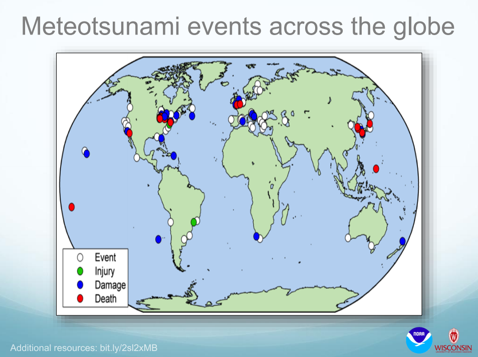 Meteotsunamis: a forgotten, dangerous and possibly deadly