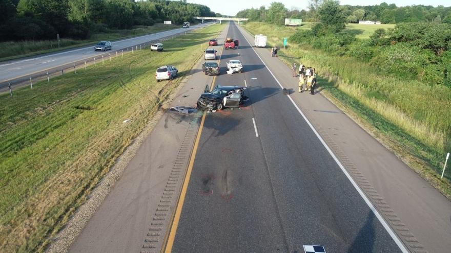 Multi-vehicle accident in Michigan leaves man, infant unresponsive