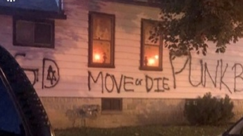 Mother and daughter feel targeted after Graffiti found on side of home