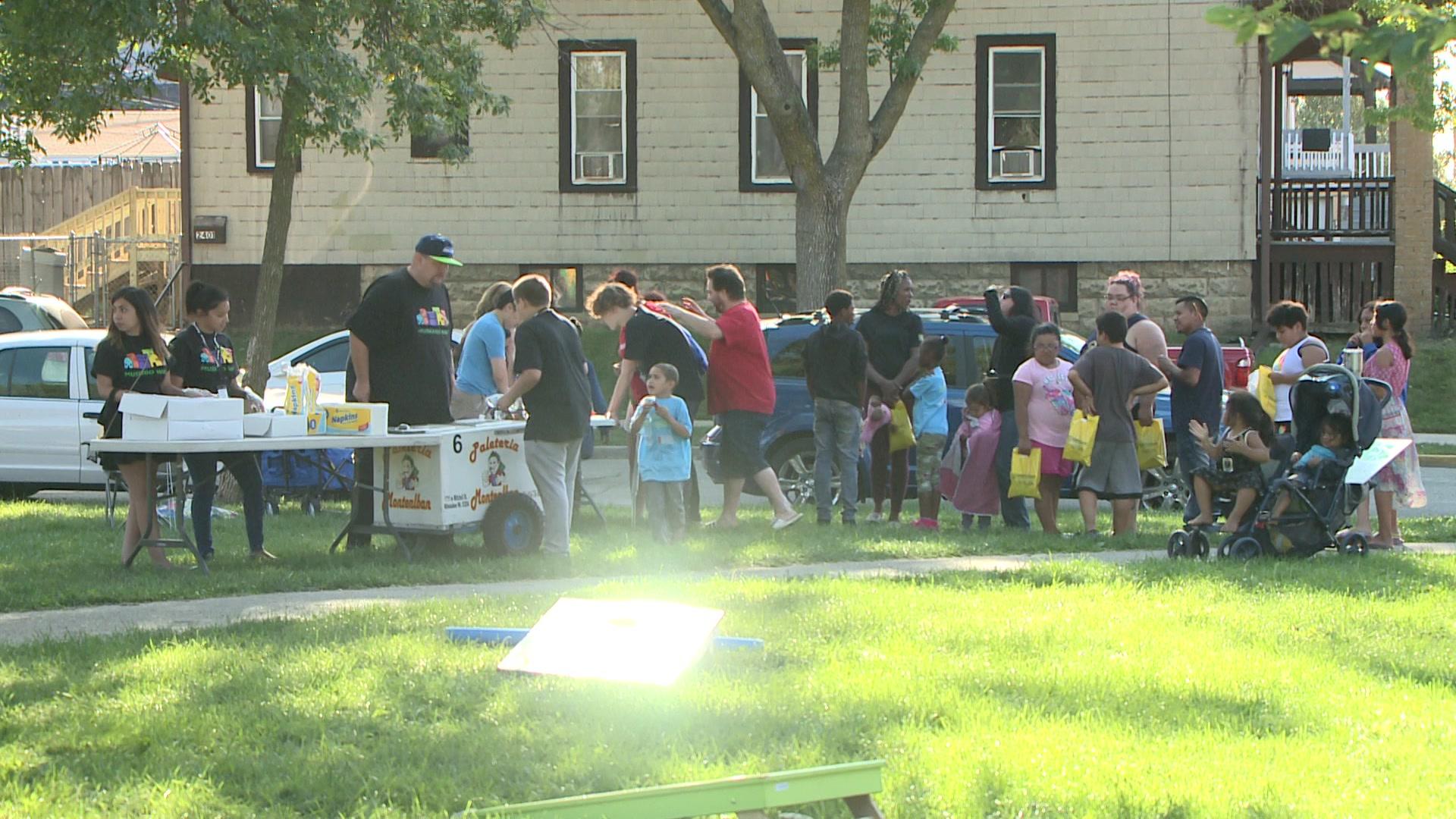 Muskego Way neighborhood holds block party at Reiske Park