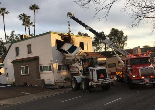 Speeding Car Goes Airborne Crashes Into Second Floor Of California Building