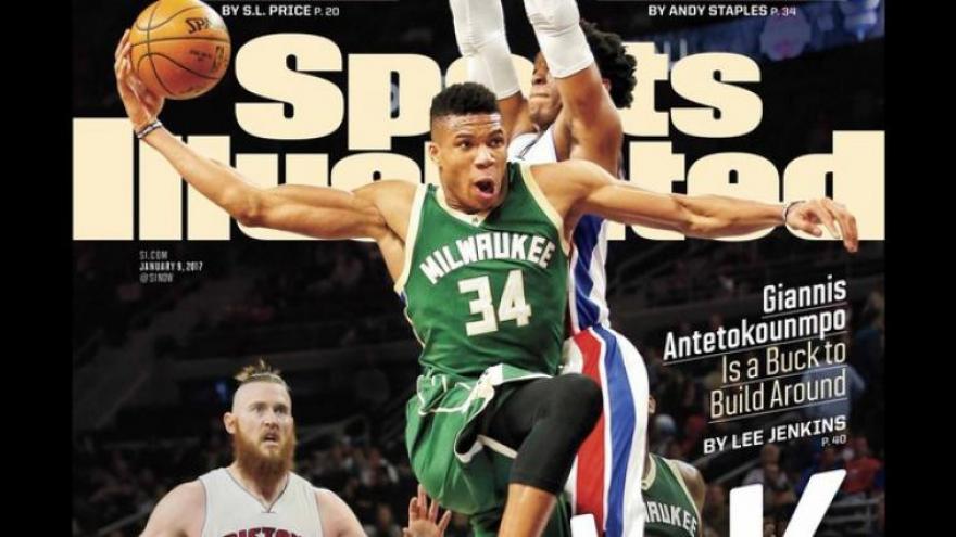 Bucks Giannis Antetokounmpo on Cover of Sports Illustrated