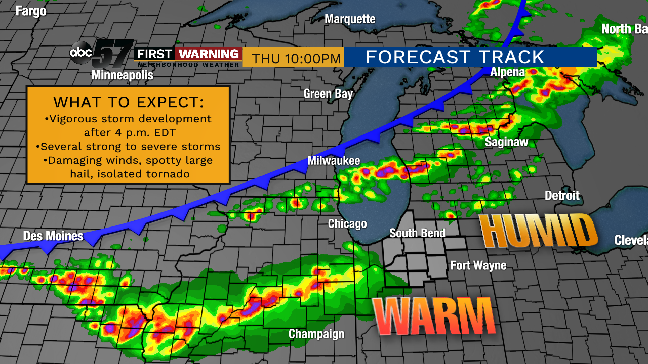 Severe weather threat increasing for Thursday