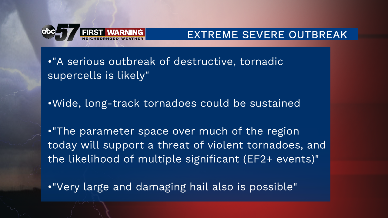 Tornado outbreak likely in Oklahoma, Texas, with