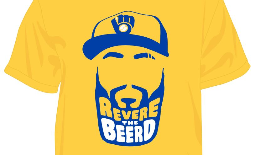 quality design d8148 56f8e Brewers Eric Thames gets his own T-shirt