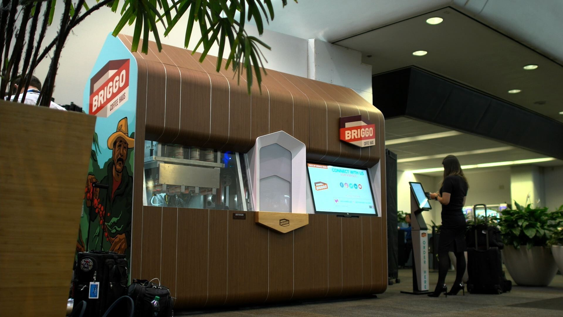 A Briggo Coffee Haus at San Francisco International Airport by Briggo
