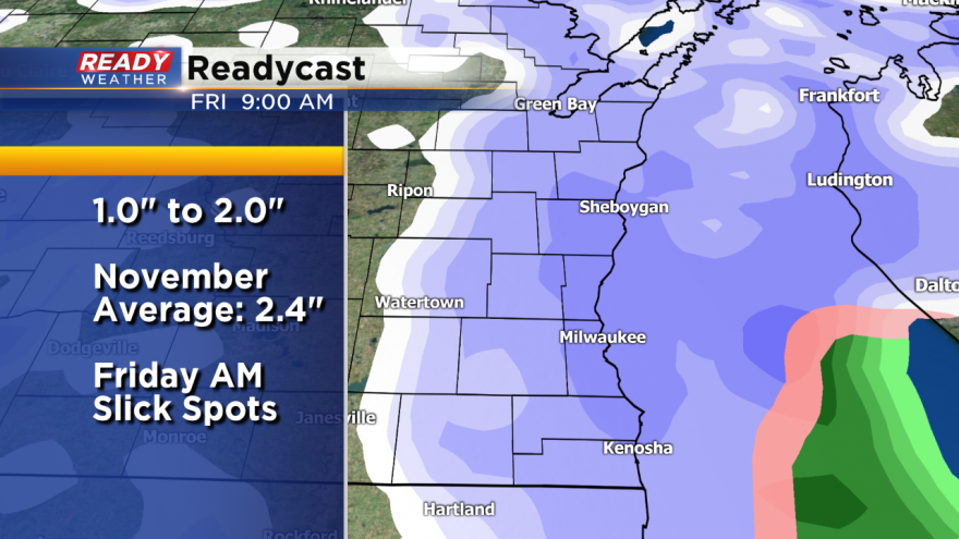 Slightly Higher Snowfall Totals Are Expected For Friday