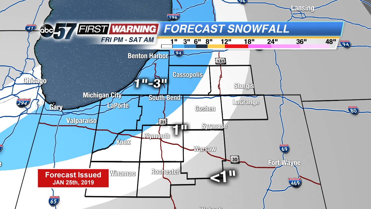 Snowy Friday evening, extreme winter weather next week