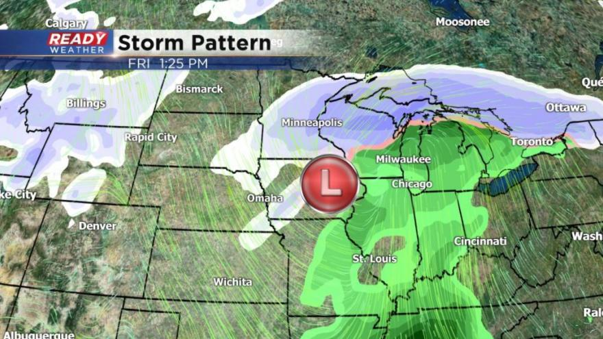 Chance for snow and cold going into Christmas