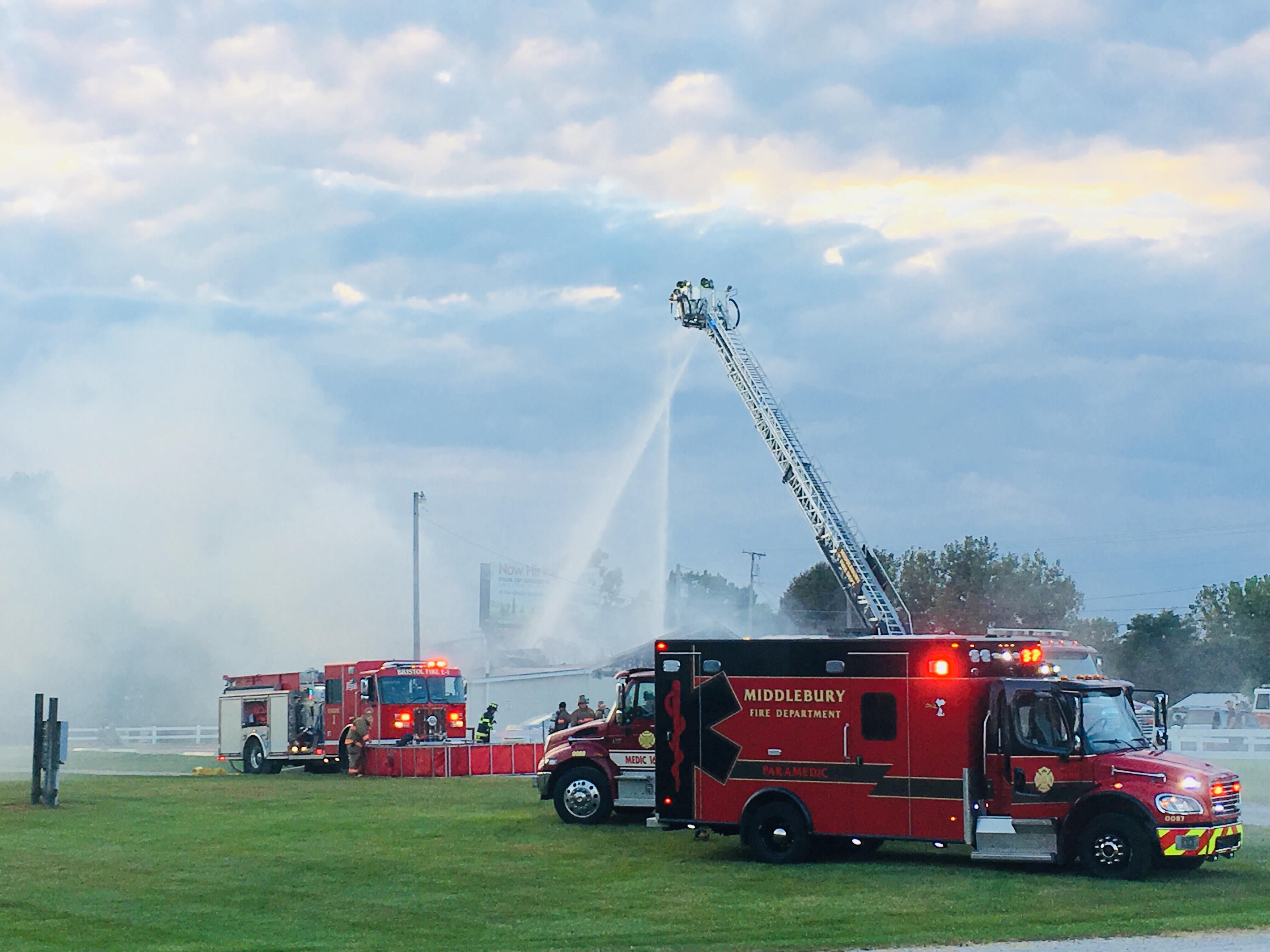 Blaze engulfs Hilltop Restaurant in Middlebury