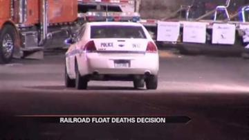 No charges in Texas railroad float crash