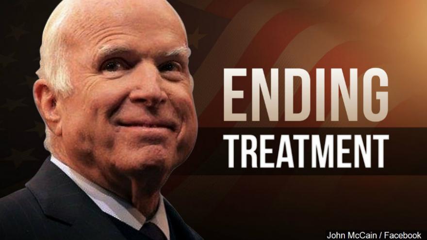 John McCain discontinuing treatment for aggressive cancer