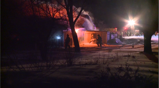 86-year-old man rescued in Town of Lisbon house fire