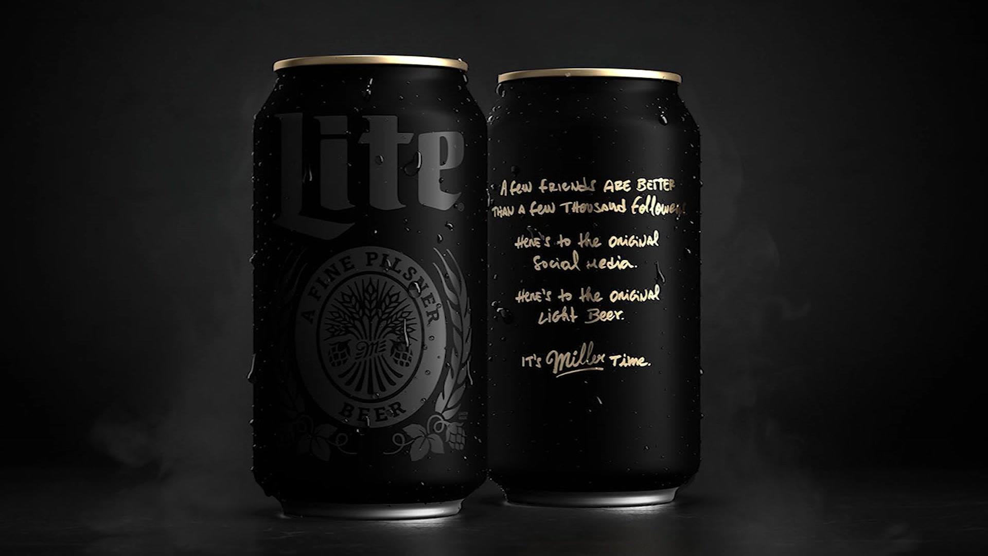 New Miller Lite cans promote 'offline