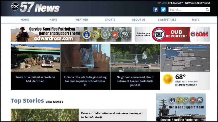 ABC 57 launches new website, news app