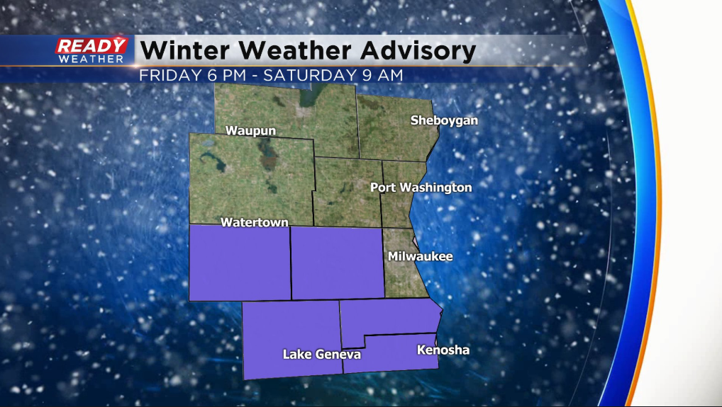 Friday AM Update: Rain and snow continue; winter weather advisory issued