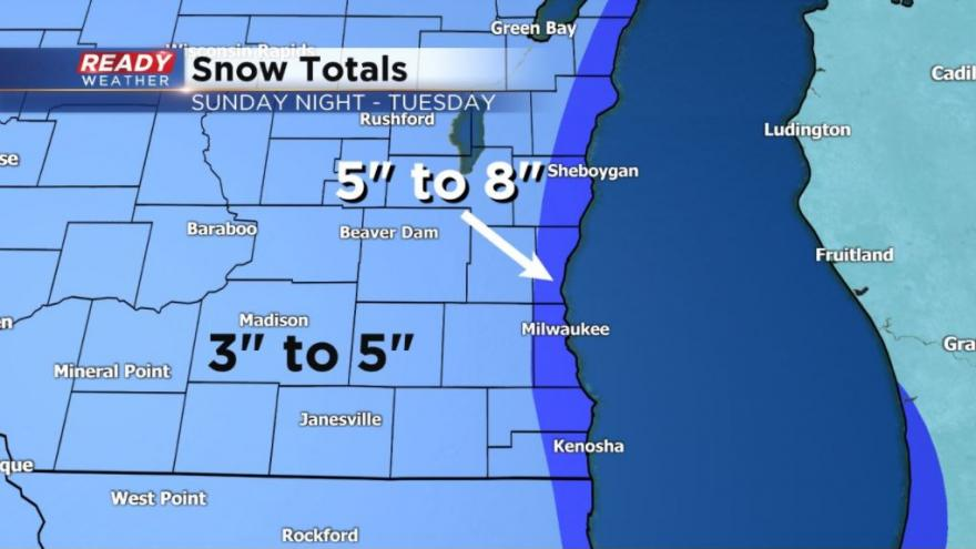 Sunday Evening Update Light Snow Reported Throughout All Of