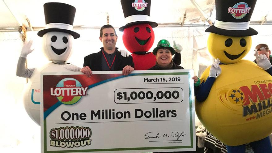Nappanee man wins $1 million in Hoosier Lottery second