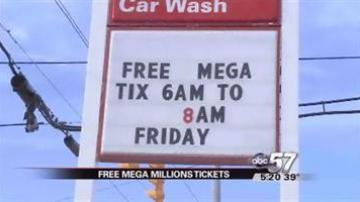 South Bend convenience store giving away free Mega Millions tickets