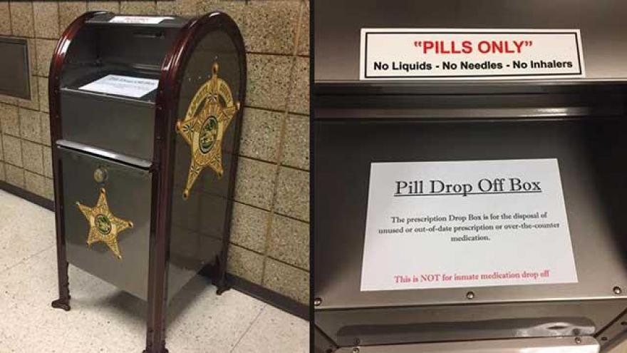 New Prescription Drug Drop Box Installed At Sheriffs Office - Porte box