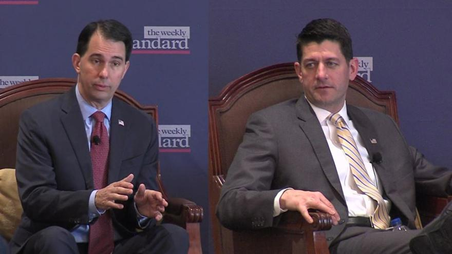Wisconsins Own Paul Ryan Making Waves >> Governor Walker House Speaker Paul Ryan Talk Strategy For Avoiding