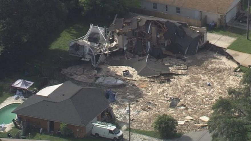 Sinkhole Swallows Homes In Florida