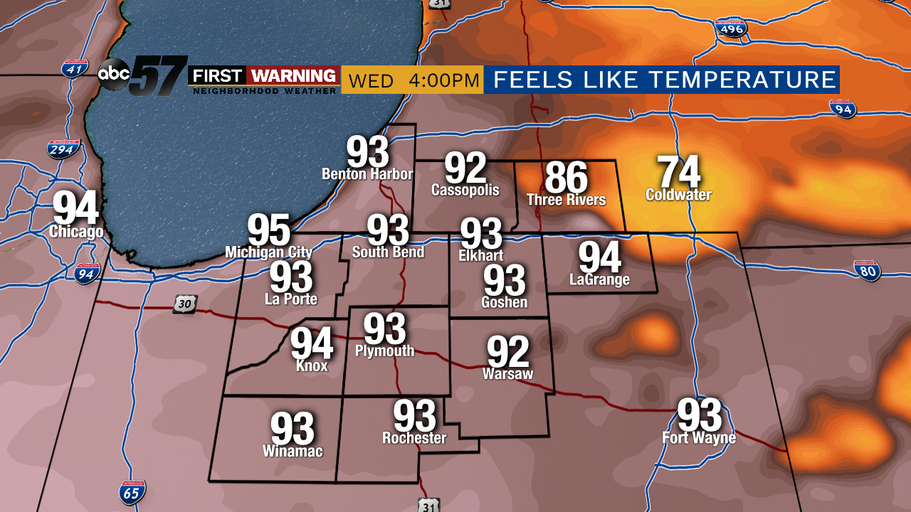 Thursday's First Warning Forecast: Feeling like 100 today