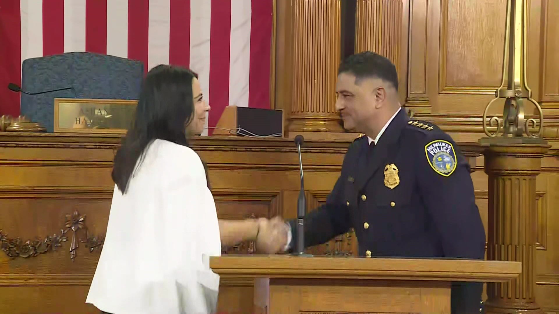 Milwaukee Police Chief Alfonso Morales' swearing-in ceremony  by