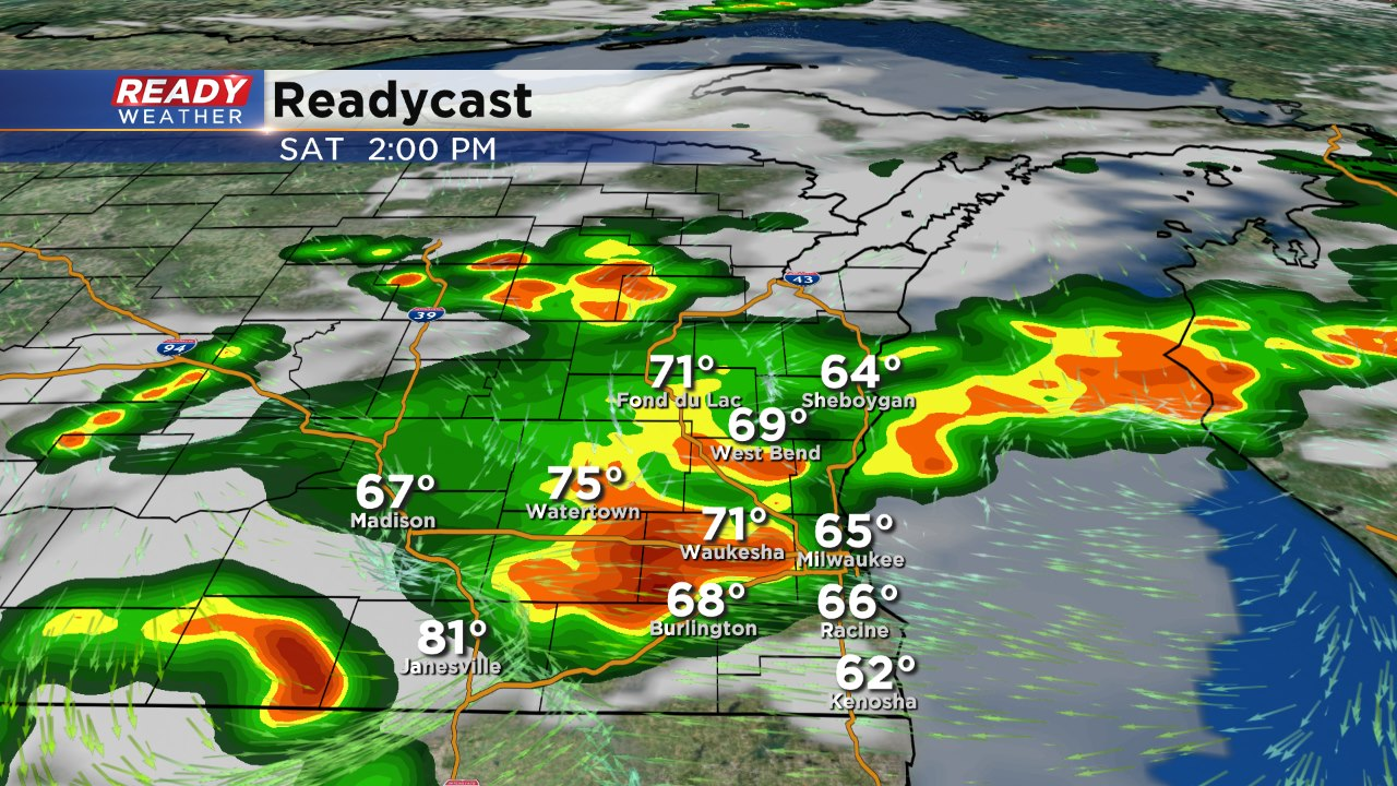 Isolated Storm Sunday Afternoon