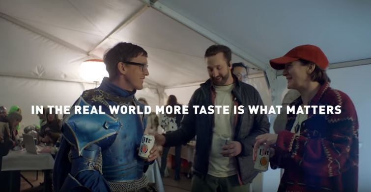 Miller Lite releases new commercials making fun of medieval themed Bud Light ads