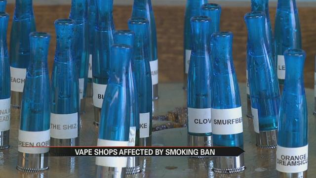 Vape stores impacted by South Bend smoking ban
