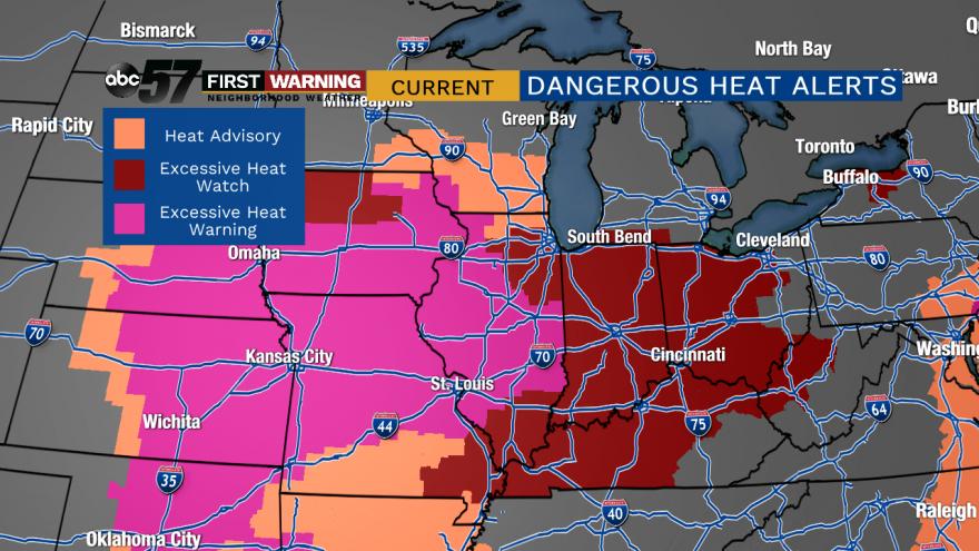 Excessive heat alerts in effect: latest on dangerous heatwave