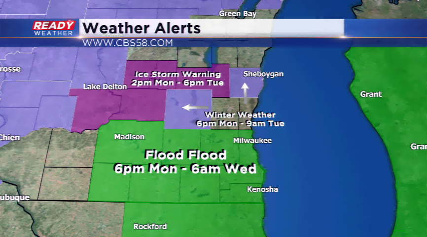 Flood watch in effect for Racine County starting Monday night