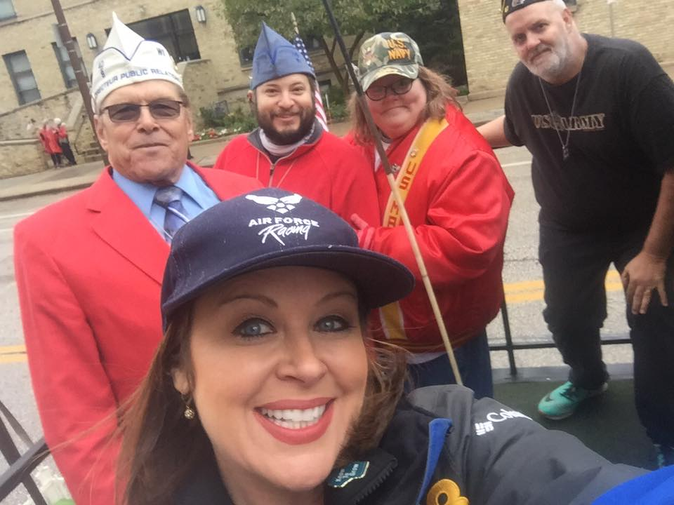 CBS 58's Michele McCormack joined 40/8 Voiture Society Members for annual Veterans Parade in Milwaukee  by