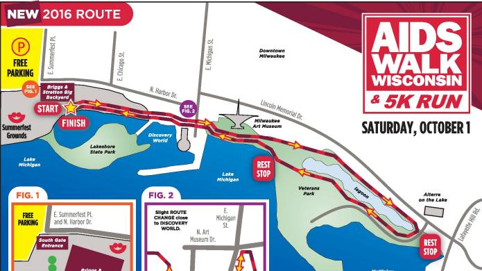 Th AIDS Walk Wisconsin This Saturday - Summerfest grounds map