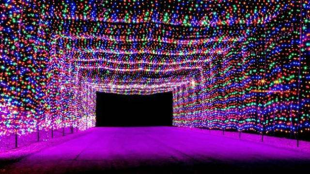 The Las Vegas Motor Speedway hosts Glittering Lights, a 2.5-mile circuit  that gives car-bound visitors the opportunity to see more than 400 animated  ... - 7 Best Places To See Christmas Lights In The USA