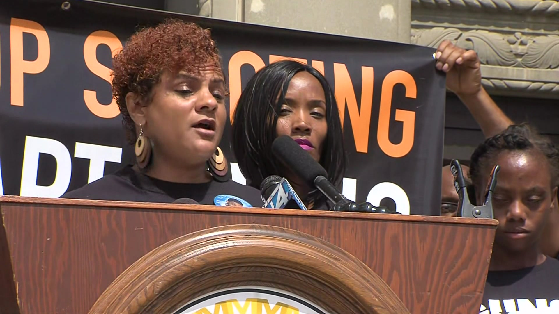 Mothers of gun violence victims speak outside Milwaukee County courthouse