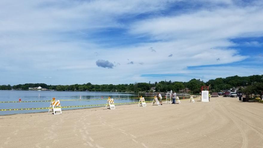 Pewaukee Lake S Beach Back Open