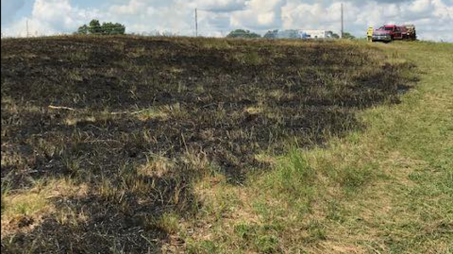 Fireworks believed to be cause of brush fire at wildlife area in