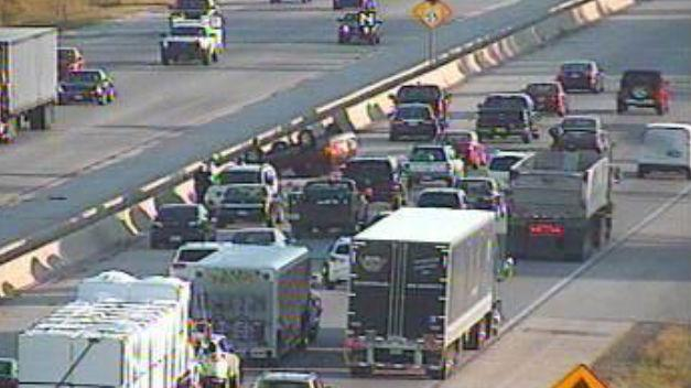 UPDATE: Rollover Accident closes two left lanes during