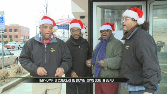 acapella group brings locals together for impromptu concert