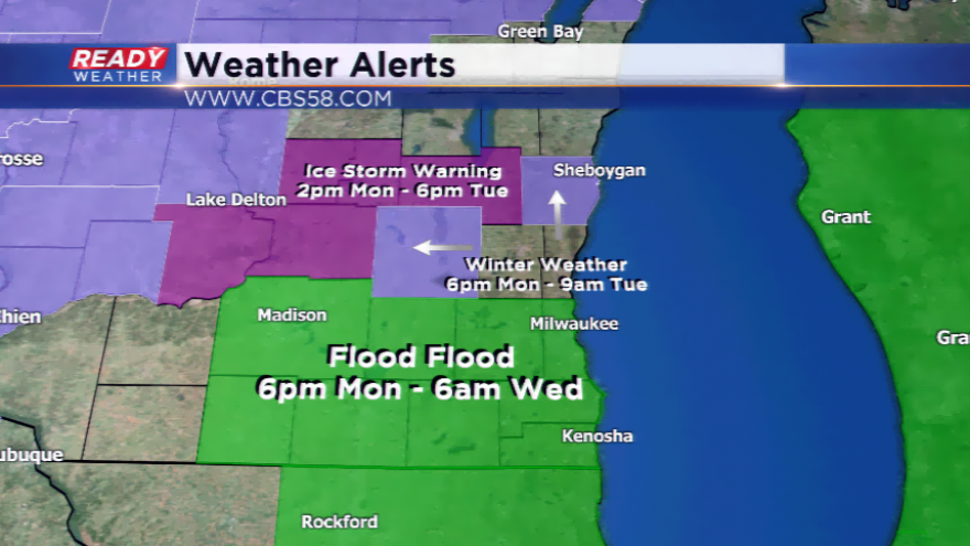 Winter Storm Watch for Freezing Rain in Place for Monday Night