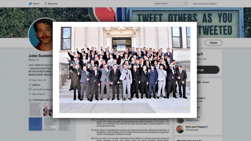Wisconsin boys appears to give Nazi salute in photo; school district investigating