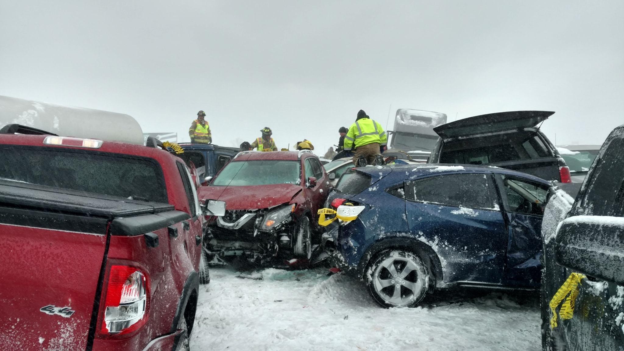 UPDATE: Teacher killed, 71 injured in 131-vehicle pileup on I-41 in
