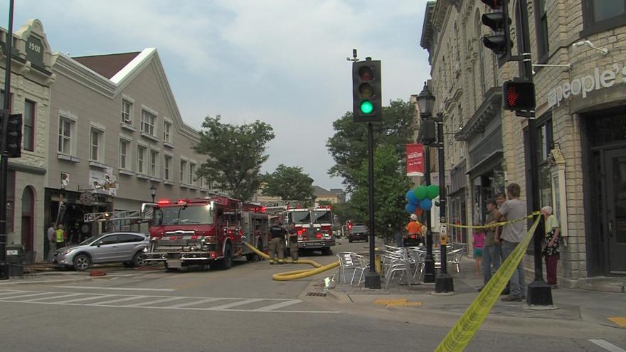 six firefighters injured while battling fire in downtown waukesha