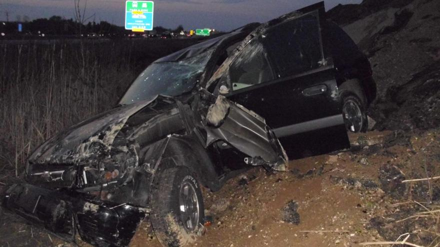 Driver uninjured after rollover crash on I-94 the day he bought car
