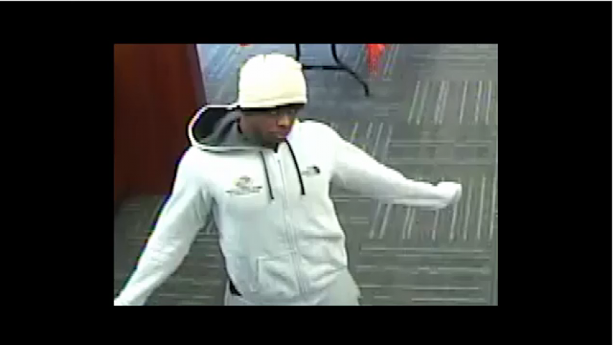 milwaukee police searching for suspect wanted in connection with guaranty bank armed robbery