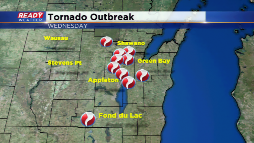 10 tornadoes Hit Wisconsin Wednesday, the Most in One Day in Six Years!