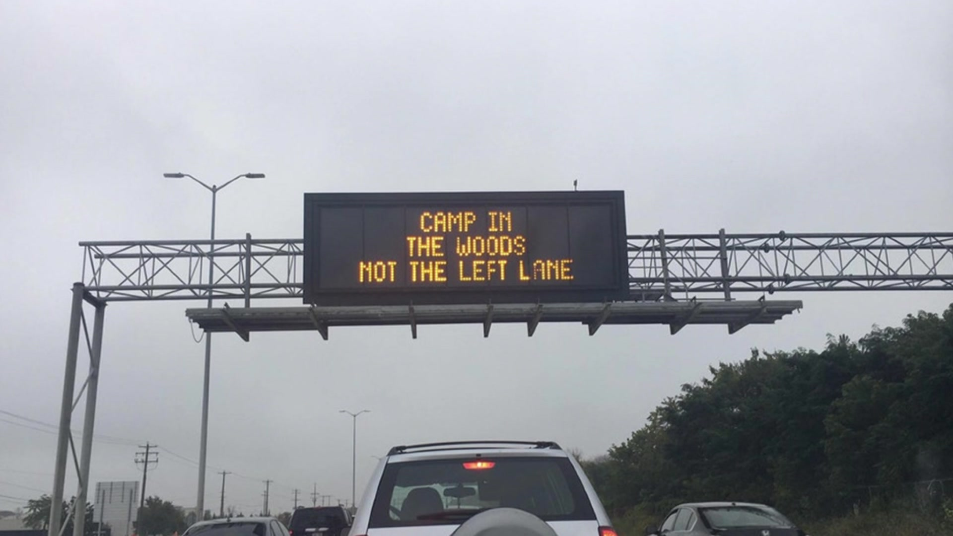 Clever highway safety signs hold serious messages for drivers