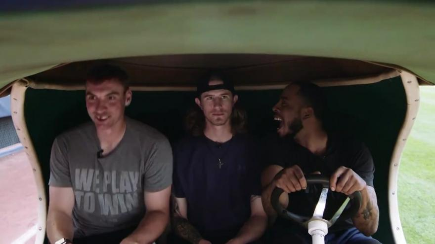 WATCH: Milwaukee Brewers re-enact hitchhiker scene from
